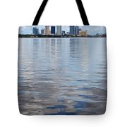 Tampa Skyline Over The Bay Tote Bag