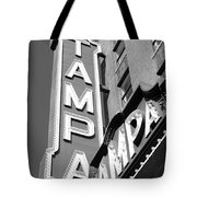 Tampa Theatre Bw Tote Bag