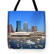 Tampa's Day Panoramic Tote Bag