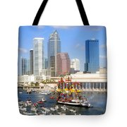 Tampa's Flag Ship Tote Bag by David Lee Thompson