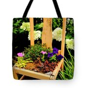 Tan Chair Planter Tote Bag