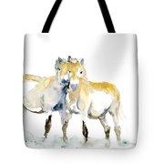 Tan Horses Tote Bag
