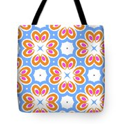Tangerine And Sky Floral Pattern- Art By Linda Woods Tote Bag