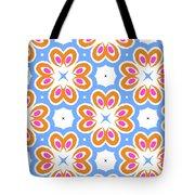 Tangerine And Sky Floral Pattern- Art By Linda Woods Tote Bag