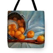 Tangerine Family Portrait Tote Bag by Terrye Philley