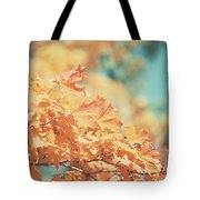 Tangerine Leaves And Turquoise Skies Tote Bag