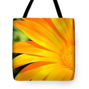 Tangerine Side Bloom Tote Bag