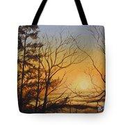 Tangerine Sky Tote Bag