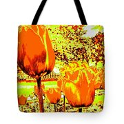 Tangerine Tulips Tote Bag