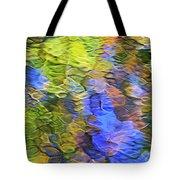 Tangerine Twist Mosaic Abstract Art Tote Bag