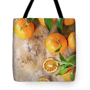Tangerines With Leaves Tote Bag