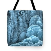 Tangle Falls Frozen In Blue Tote Bag