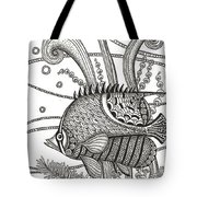 Tangle Fish Tote Bag
