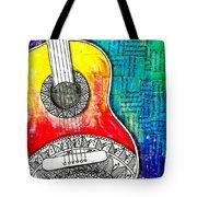 Tangle Guitar No 4 Tote Bag
