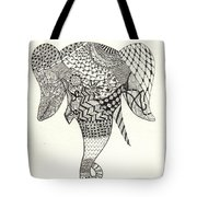 Tangled Elephant Tote Bag by Ekta Gupta