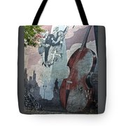 Tango And The Double Bass Tote Bag