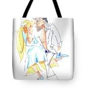 Tango Nuevo - Gancho Step - Dancing Illustration Tote Bag