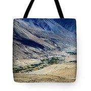 Tangsey Village Landscape Of Leh Ladakh Jammu And Kashmir India Tote Bag