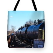Tanker Cars Pulled By Csx Engines Tote Bag