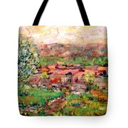 Taos By The River Tote Bag
