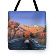 Taos In The Golden Hour Tote Bag