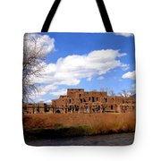 Taos Pueblo Early Spring Tote Bag