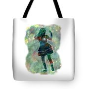 Tap Dancer 1 - Green Tote Bag