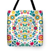 Flores Y Aves Tote Bag