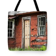 Tar-paper House Door And Windows Tote Bag
