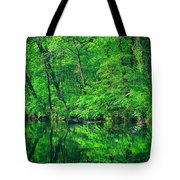 Tar River Reflection Tote Bag
