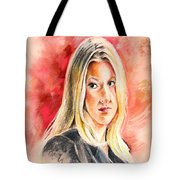 Tara Summers In Boston Legal Tote Bag