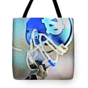 Tarheel Football Helmet Nixo Tote Bag