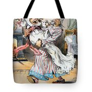 Tariff Cartoon, 1896 Tote Bag
