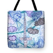 Tarot Of The Younger Self Ace Of Swords Tote Bag