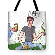 Tarot Of The Younger Self Four Of Cups Tote Bag