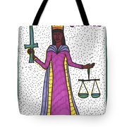 Tarot Of The Younger Self Justice Tote Bag