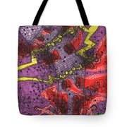 Tarot Of The Younger Self The Tower Tote Bag