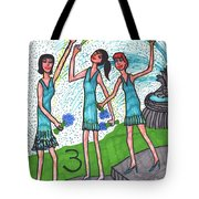 Tarot Of The Younger Self Three Of Cups Tote Bag