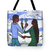 Tarot Of The Younger Self Two Of Cups Tote Bag