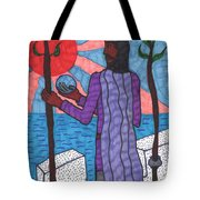 Tarot Of The Younger Self Two Of Wands Tote Bag