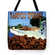 Tarpon Springs Postcard Tote Bag