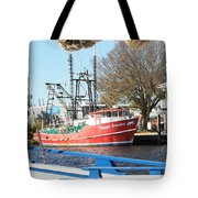 Tarpon Springs Shrimp Boat Tote Bag