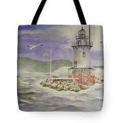 Tarrytown Lighthouse From The South Tote Bag