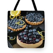 Tart With Blueberries Tote Bag