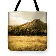 Tasmania West Coast Mountain Range Tote Bag
