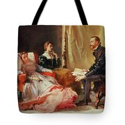 Tasso And Elenora Tote Bag by Domenico Morelli