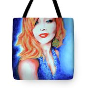 Tatiana With Pearls And Green Earring Tote Bag