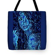 Tatto Lady With The Blues Tote Bag