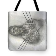 Tattooed Wolverine Tote Bag