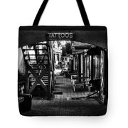 Tattoos And Body Piercing In Black And White Tote Bag